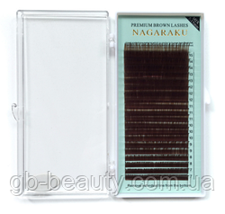 Коричневые ресницы Nagaraku 0,07 C 7-15 (20 линий)