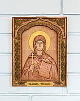 Резная Икона из дерева - Святая мученица Наталия