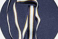 ТЖ 20мм репс (50м) синий+белый+люр.золото