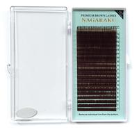 Коричневые ресницы Nagaraku 0,07 D (7-15) (20 линий)