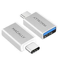 MacallyАдаптер USB-A для USB-C порта ноутбука(UCUAF2)