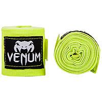 Боксерские бинты Venum Boxing Handwraps 4 м Neo Yellow (EU-VENUM-0433)