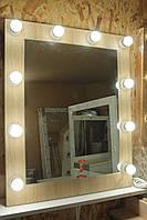 Гримерноезеркало для салона красоты или дома. Зеркало в цвете дуб Сонома