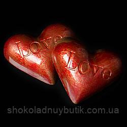 """Шоколадные конфеты ручной работы """"Молочное сердце""""."""