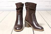 Жіночі шкіряні черевики TIFFANY на середньому каблуці, фото 1