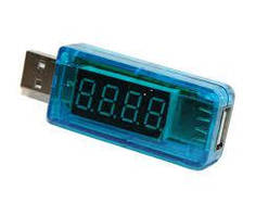 USB тестер Charger Doctor напряжения (3-7.5V) и тока (0-2.5A) Blue(White) (прямой-загнутый)