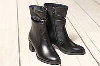 Женские кожаные ботинки TIFFANY на среднем каблуке, фото 1