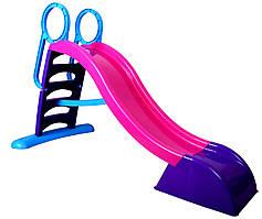 Горка детская игровая пластиковая Mochtoys 187см XL с лестницей и подключением воды (горка-спуск)