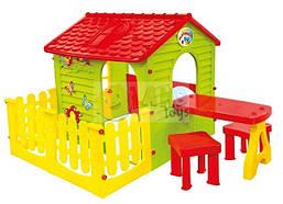 Домик детский игровой Garden House + столик и табуретки ( игровой домик для улицы и дома )