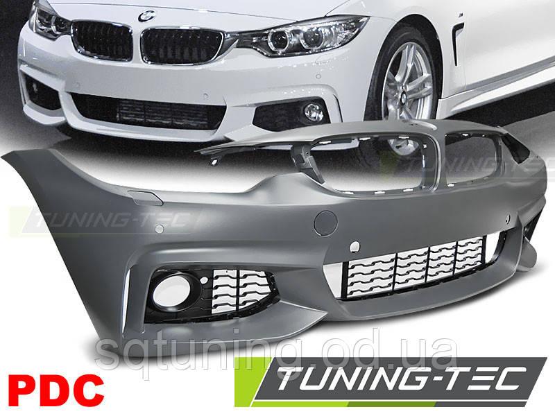 Бампер передний BMW F32/F33/F36 10.13- M-TECH STYLE PDC