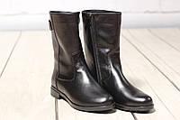 Жіночі замшеві черевики шкіряні напівчеревики TIFFANY на низькому каблуці з ремінцем, фото 1