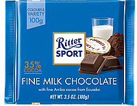 Молочный шоколад Ritter Sport Fine Milk Chocolate, 100 г