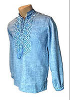 Мужская джинсовая сорочка с вышивкой Орнамент