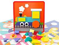 Детский игровой набор МОЗАИКА ДЛЯ САМЫХ МАЛЕНЬКИХ M9E (1660471)  вкладыши, 22шт, 12 карт.,в кор.31*5,5*31см 3D