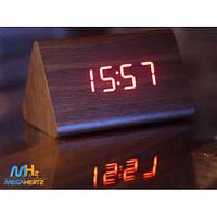 Электронные настольные часы под дерево с подсветкой VST-864-1