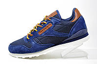 Кроссовки мужские Reebok Classic Leather, Brown\Dark Blue