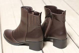 Жіночі шкіряні черевики черевики TIFFANY на низькому середньому каблуці