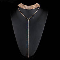 Чокер ювелирная бижутерия позолоченный 3159-а, фото 1