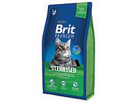 Brit Premium Cat Sterilized 300 г, брит для стерилизованных кошек и кастрированных котов
