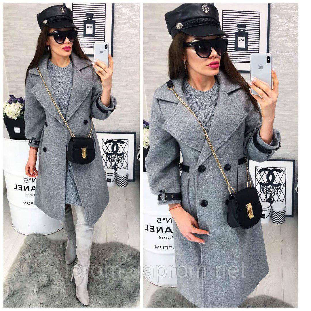 4ac28c8ba80 Купить Модное пальто в стиле милитари . Серый в Харькове от компании ...