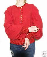 Женский свитер красный яркий ангора р. М 48