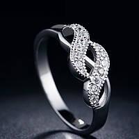 Кольцо покрытие серебро ювелирная бижутерия 748