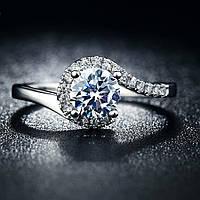 Кольцо покрытие серебро ювелирная бижутерия 714