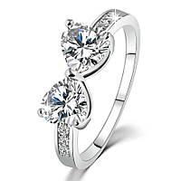 Кольцо покрытие серебро ювелирная бижутерия 729