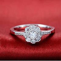 Кольцо покрытие серебро ювелирная бижутерия 71