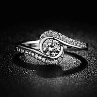 Кольцо покрытие серебро ювелирная бижутерия 715