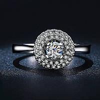 Кольцо покрытие серебро ювелирная бижутерия 721
