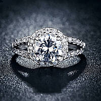 Кольцо покрытие серебро ювелирная бижутерия 712