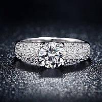 Кольцо покрытие серебро ювелирная бижутерия 710