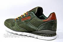 Кроссовки мужские в стиле Reebok Classic Leather, khaki, фото 2