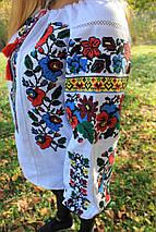 Женская блуза вышиванка Мальва белая, фото 3
