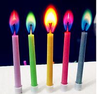 Свечи в торт Цветное пламя 5шт