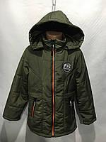 Куртка для мальчикадетская демисезонная от 6до 10лет,оливкового цвета
