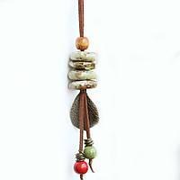 Колье подвеска из керамики ювелирная бижутерия 3126