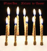 Свечи в торт Золото 10 шт