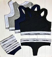 Женский комплект Calvin Klein: стринги и топ