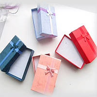 Подарочная коробочка прямоугольная с бантиком 83