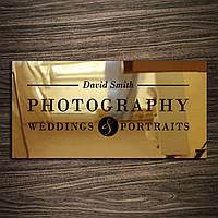 Табличка из нержавейки Gold скотч, 300х150 мм, зеркало