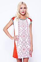 Шифоновое платье вышиванка с принтом