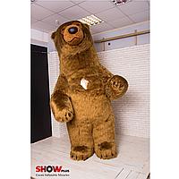 Надувной костюм (пневмокостюм, пневморобот) Бурый Медведь дл.мех, фото 1