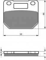 Тормозные колодки NIBK Pm050