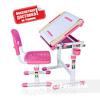 Детская парта-растишка и стульчик для дома ТМ FunDesk Bambino Pink