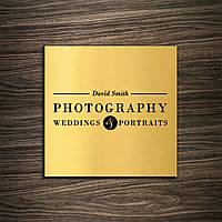 Табличка из нержавейки Gold скотч, 150х150 мм, мат