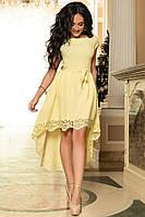 Платье ассиметричное  полу батал