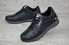 Мужские кожаные кроссовки Reebok Classic черные