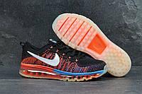 Мужские кроссовки Nike (черные с оранжевым) арт. 4338, фото 1